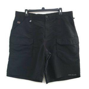Columbia PFG Cargo Men's Shorts Black Size 38W